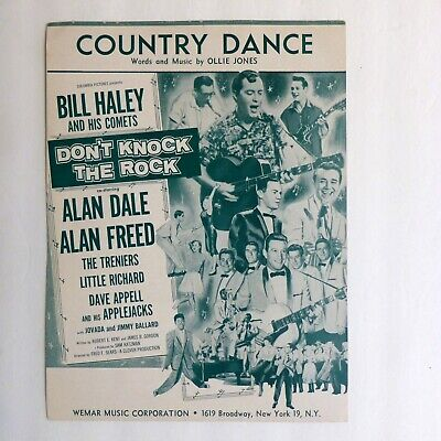 COUNTRY DANCE Sheet Music by Ollie Jones BILL HALEY Dont knock the rock  #307