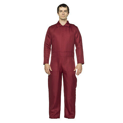 Red Jumpsuit Halloween Costume (Adult Men's Us Them Horror Halloween Cosplay Costume Dark Red Jumpsuit S M L)