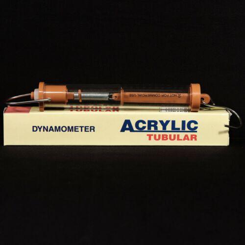 Acrylic Tubular 10N/1Kg Dynamometer Spring Scale Balance Brown EUC