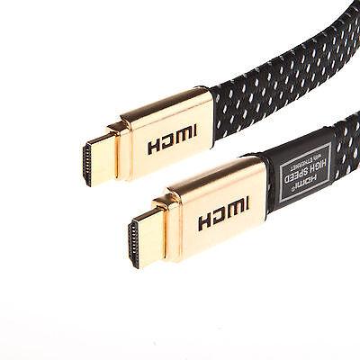 Gold Premium v2 High Speed 2160p HDMI Videokabel HD HDTV Kabel 3D 1m-15m Gold Hdtv-kabel