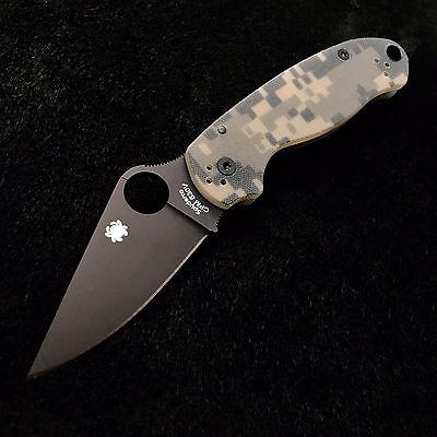 Spyderco Para 3 C223GPCMOBK Digi G10 Scales - 2.95' S30V Blade Paramilitary NEW