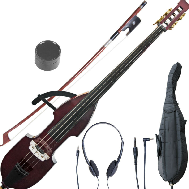 Cecilio Size 3/4 Electric Silent Upright Double Bass