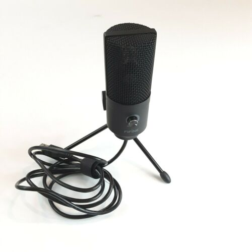 Fifine K669B USB Condenser Table Microphone Podcast Gaming Streaming PC