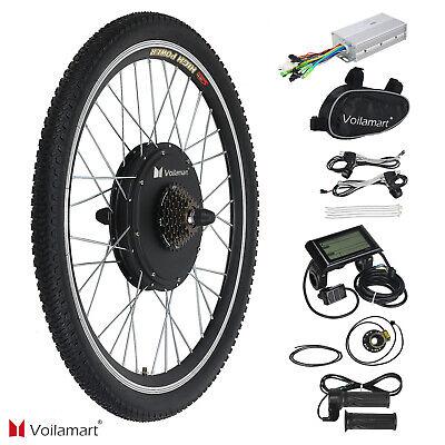 28'' 1000W Bicicleta Eléctrica Kit Conversión Rueda Trasera Velocidad Motor LCD