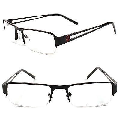 Designer Stylish Rectangle Smart Nerd Black Prescription Rx Eye Glasses Frames  ()