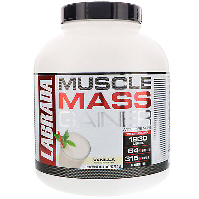 Labrada Nutrition Muscle Mass Gainer, Vanilla, 6 Pound