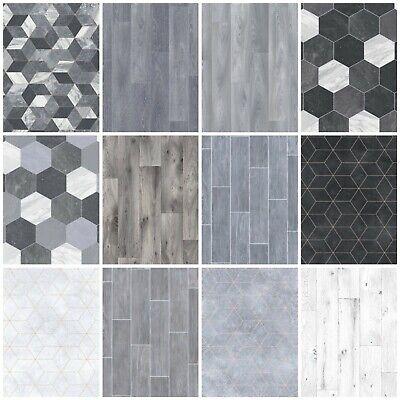 Heavy Feltbacked Quality Cushion Floor Vinyl Flooring Grey Kitchen Bathroom Lino