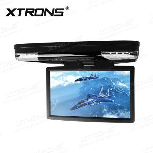 "US 15.6"" HD Overhead Car Roof DVD Flip Down Monitor Headset Player USB/SD/HDMI"
