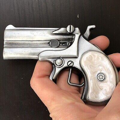New Gun Belt Buckle Rodeo Western 3d Silver Oval Best