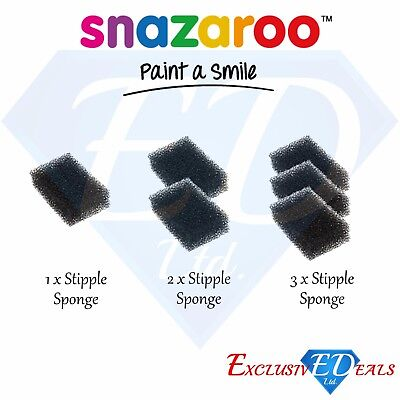 Snazaroo Stipple Sponges - Face & Body Make Up - Special Effects FX (Special Effects Make Up)