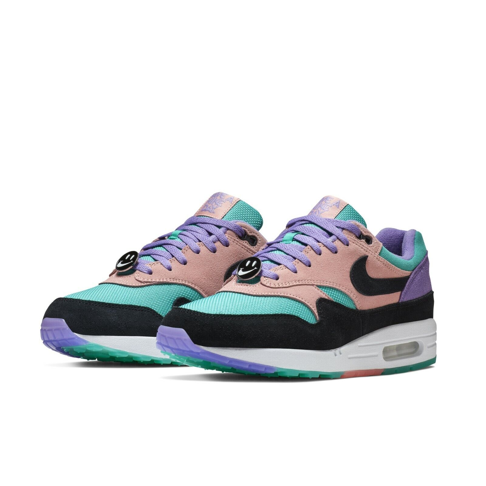 f73277459778 Nike Mens Air Max 1 ND Have A Nike Day Purple Black Coral Sneakers  BQ8929-500