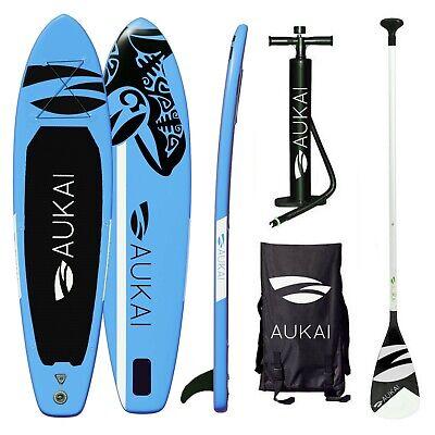 SUP Board Stand Up Paddle Surfboard 320cm aufblasbar + Paddel Surfbrett