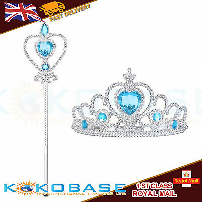 Wizard Costume For Girls (Vicloon Ice Princess Elsa Accessories Set  Tiara Crown and Magic Wand Girls)