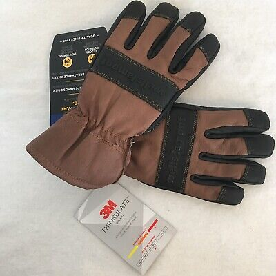 Wells Lamont Hydra Hyde Thermal Work Gloves Leather Waterproof L Thinsulate