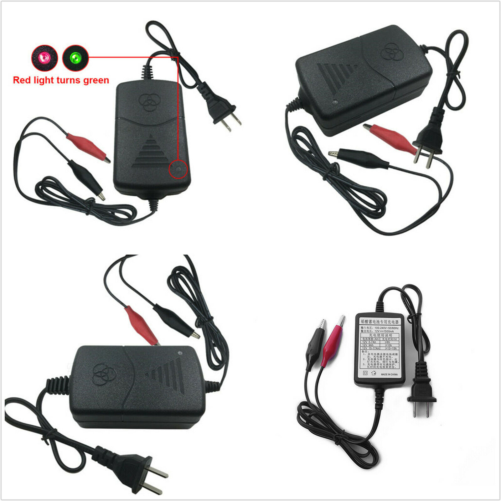 Battery Charger Maintainer 12V Amp Volt Trickle RV Car Truck Motorcycle Mower-CA