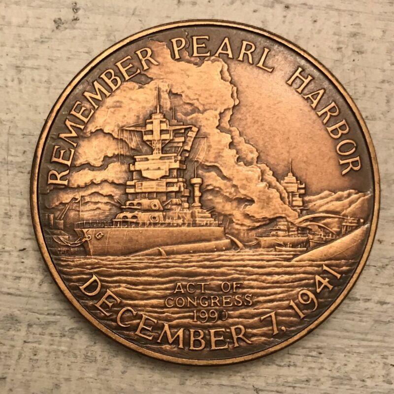 Pearl Harbor Commemorative Medal Survivor
