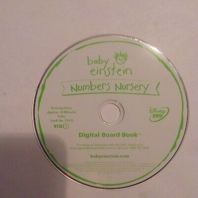 Baby Einstein numbers nursery dvd disc only NO TRACKING!!!!