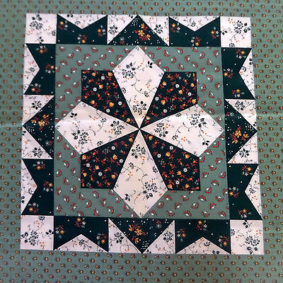 Wamsutta Fabric Panel 2 Quilting Squares Green Fabric Country Vintage for sale  Barrie