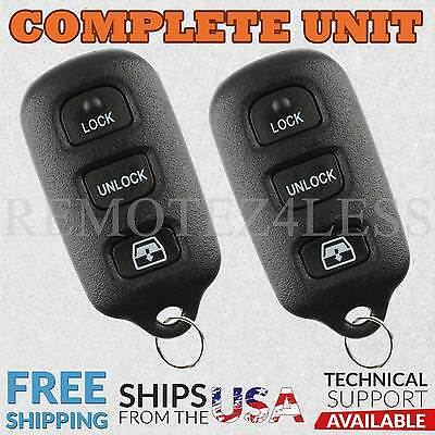 2 Replacement for Toyota 4Runner Sequoia Keyless Entry Remote Window Car Key Fob
