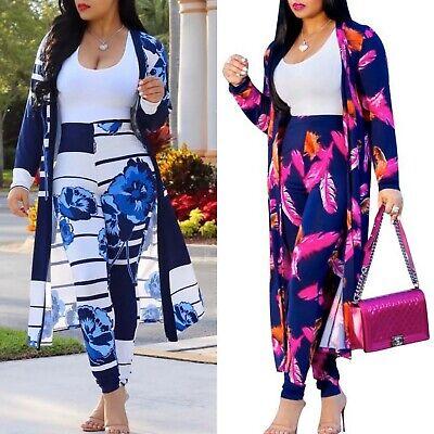 Women Long Sleeve Top + Pants Two-Piece Playsuit Bodysuit Jumpsuit Romper Set Long Romper Set