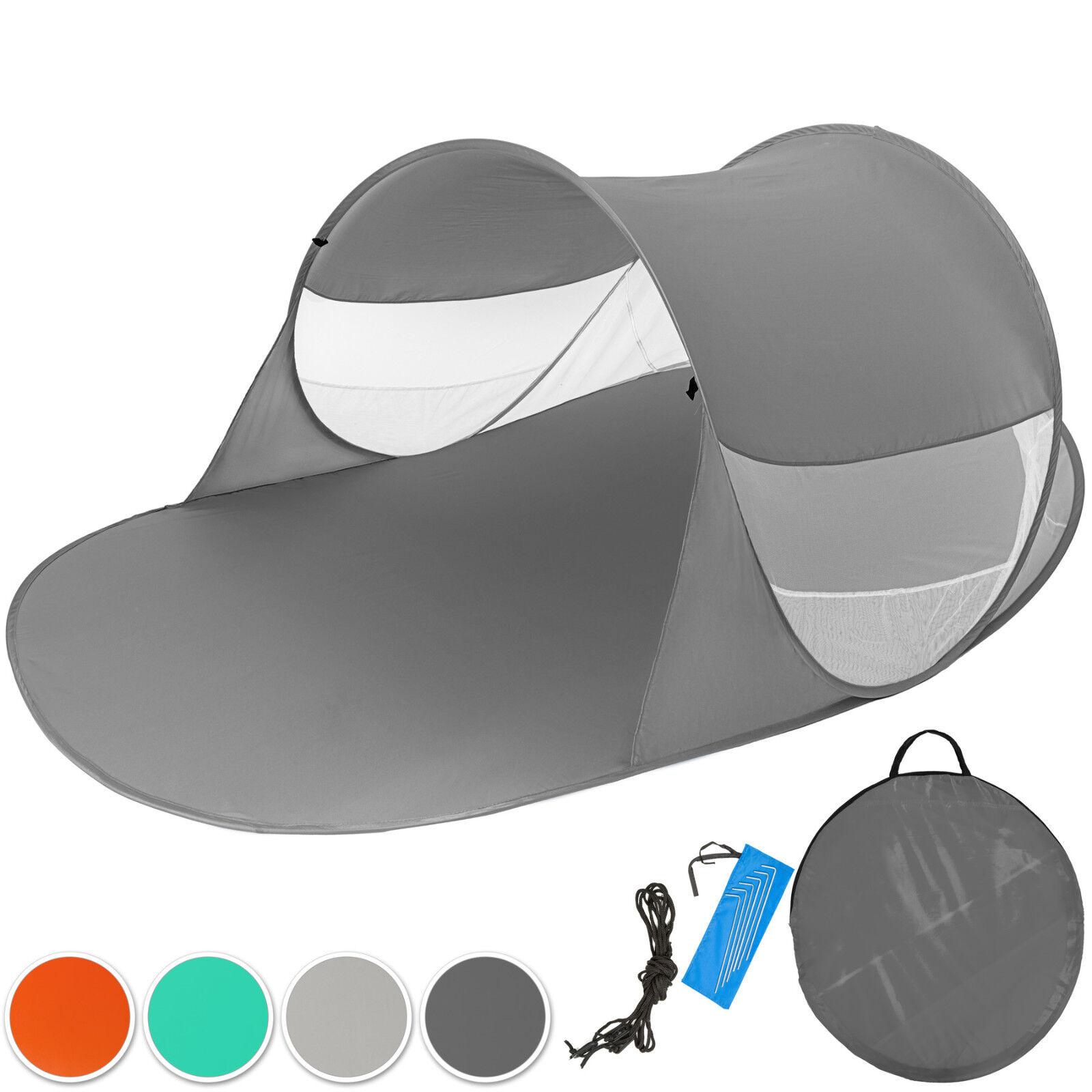 Pop Up Strandmuschel Wurfzelt Sonnenschutz Windschutz Zelt mit UV Schutz XXL