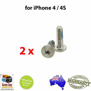 for-iPhone-4-4S-Torx-5-Point-Star-Pentacle-Dock-Connector-Bottom-Screws-X2