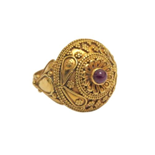 Ilias Lalaounis 18k Gold Ruby Cabochon Ring
