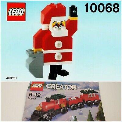Lego Creator Holiday Christmas Train #30543 & 10068 Santa Clause New Polybags