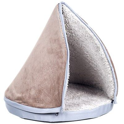 Play and Sleep Cat Bed with Removable Tee Pee Top and 2 Inch Foam Bedding ()