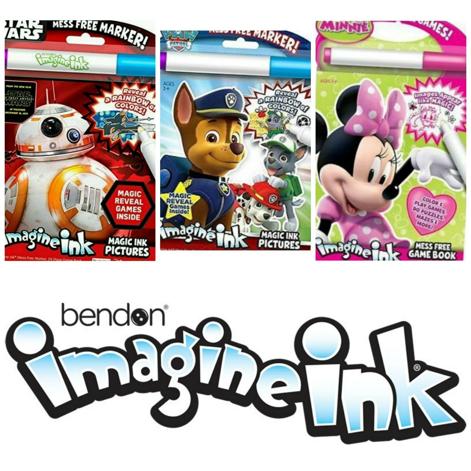 Bendon Imagine Ink Mess Free Game Book Travel