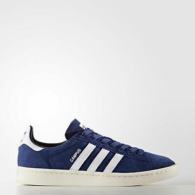New Mens Adidas Originals Campus Shoes sz 8 Suede Dark Blue White (Blue Originals)