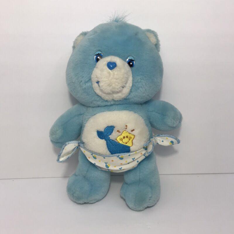 2002 Care Bears Baby Tugs Stuffed Animal Plush Bear Toy w Diaper Play Along TCFC