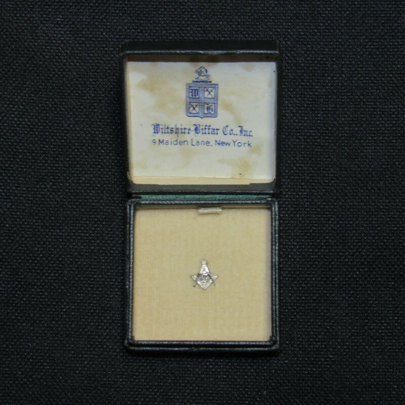 Vintage Masonic Silver Pin / New / In Original Box