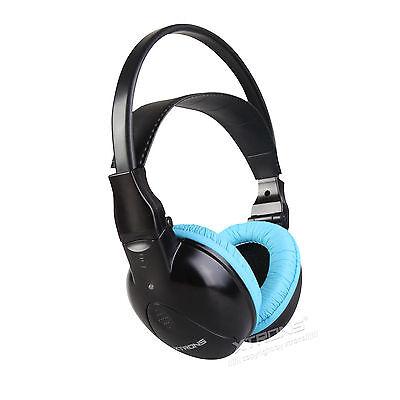 IR Infrarot Kopfhörer für Kind kid kabellos 2 Channel Stereo für Kopfstütze Blau