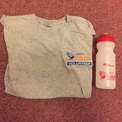 Us Department Of Energy Solar Decathlon Adult Large T Shirt And Water Bottle