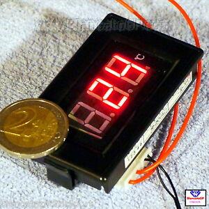 TERMOMETRO-DIGITALE-220V-CASA-30-70-LED-ROSSO-domotica-incasso-thermometer