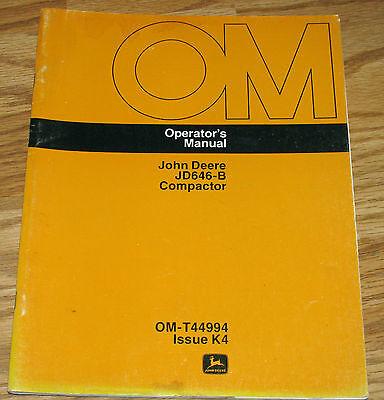 John Deere 646-B Compactor Operators Owners Manual OMT44994 K4   jd