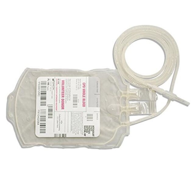 Amazlab Reusable Blood Bag Drink Container Set of 10 IV Container/Bag 350ml