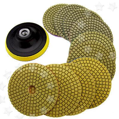 11x 4 Disc Grinder Diamond Polishing Pads Kit For Granite Concrete Marble 100mm