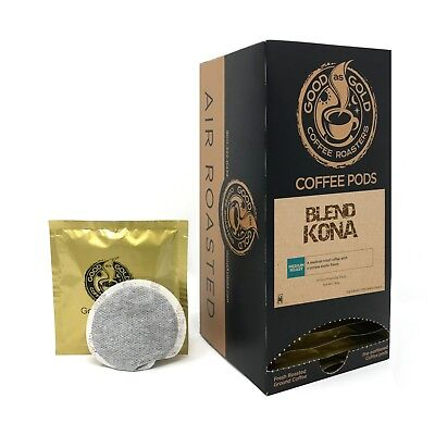 Good Gold Coffee - Good As Gold Kona Blend Coffee Pods - Air Roasted - (18 Pods)
