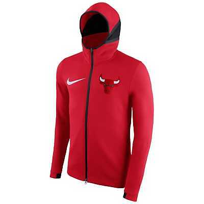 Bench Hoody - NWT MEN'S NIKE CHICAGO BULLS SHOWTIME THERMA FLEX ON COURT BENCH HOODIE SZ LARGE