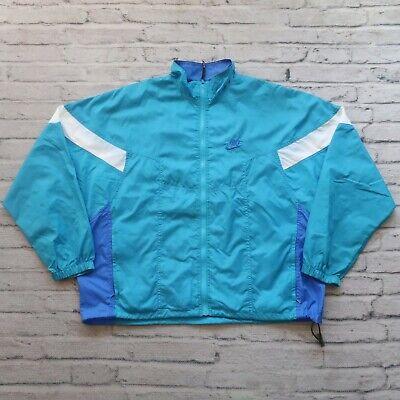 Vintage 90s Nike Neon Windbreaker Jacket Size XL Windrunner Track Swoosh Logo