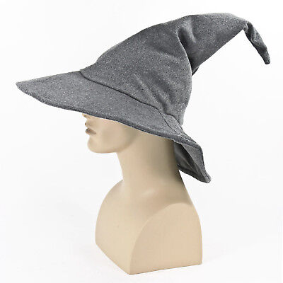 Adult Mens Hobbit Lord of the Rings Gandalf Halloween Cosplay Costume Wizard Hat (Halloween Wizard Costumes)