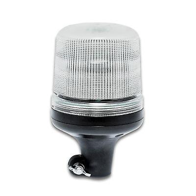 LED-MARTIN Rundumleuchte SESTO - 11 Blitzmuster - klar/gelb - DIN-Aufnahme - 12V
