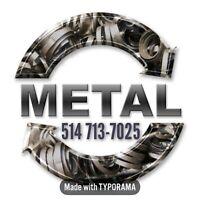 Ramassage / recyclage des métaux DC MÉTAL 514-713-7025