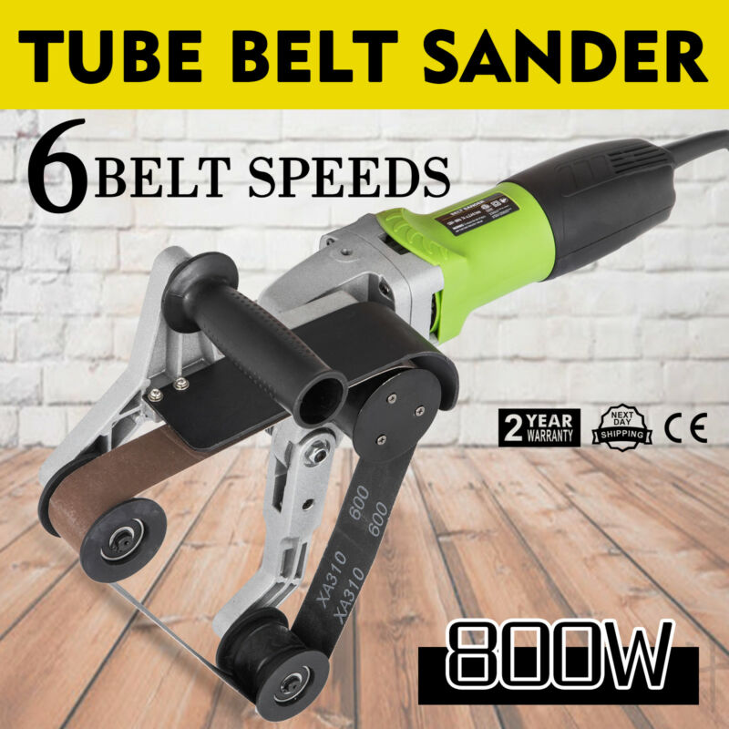 800W Tube Belt Sander Stainless Steel Pipe Polisher Electric Tool Grind HOT