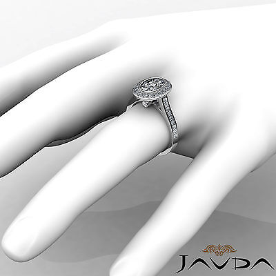 1.5 ct Brilliant Cut Oval Diamond Engagement 14k White Gold I SI1 GIA Halo Ring 3