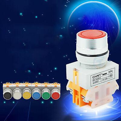 22mm Push Button Switch Momentary Power Supply Nooff 110v 220v 380v Panel Mount