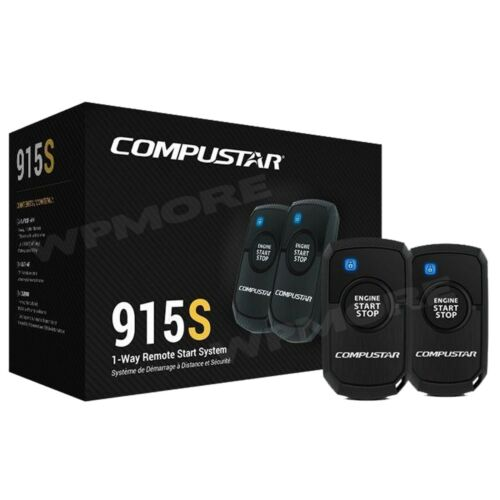 Compustar CS915 S 1-Way 1500-FT Range 1-Button Remote Start Keyless Entry System