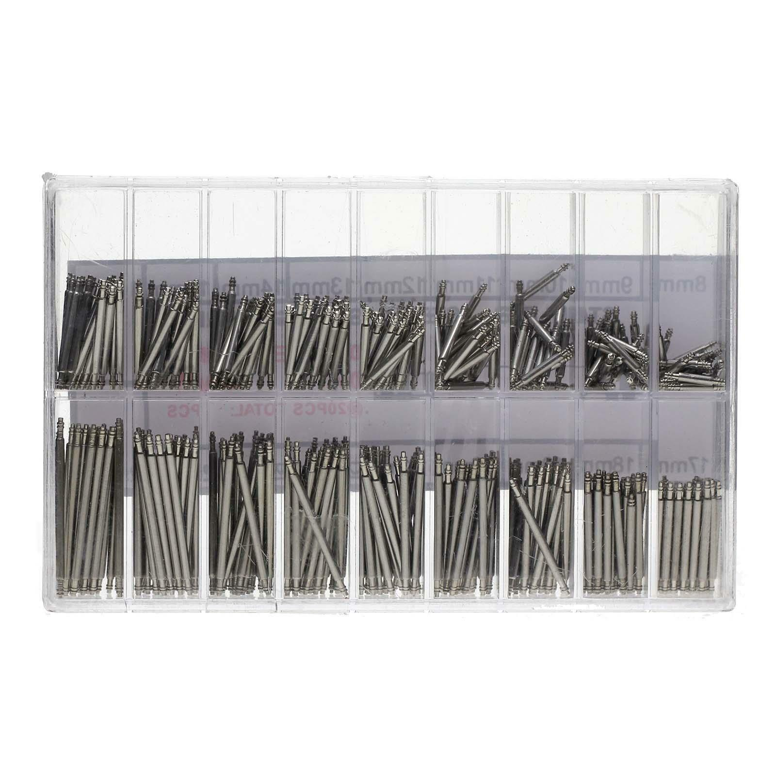 360pcs Watchmaker Watch Band Spring Bars Strap Link Pins Steel Repair Kit Tools Jewelry & Watches